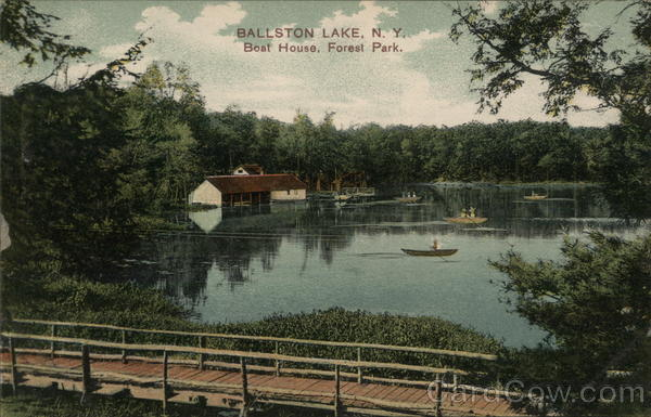 Boat House, Forest Park Ballston Lake New York