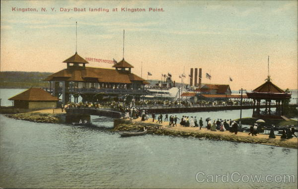Day-Boat Landing at Kingston Point New York