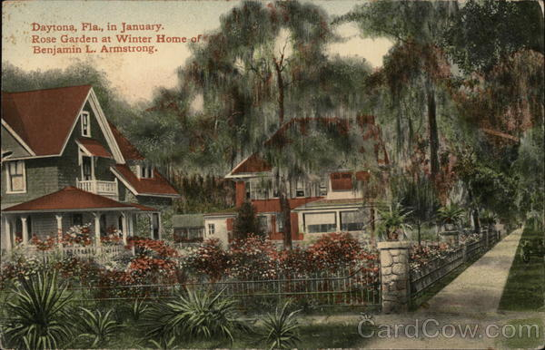 Rose Garden at Winter Home of Benjamin L. Armstrong Daytona Beach Florida