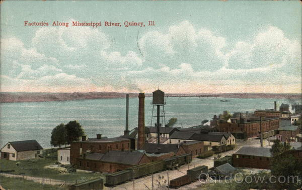 Factories Along Mississippi River Quincy Illinois