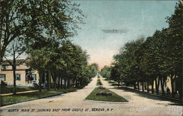 North Main Street, Looking East from Castle Street Geneva New York