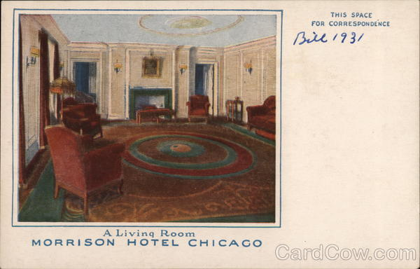 A Living Room, Morrison Hotel Chicago Illinois