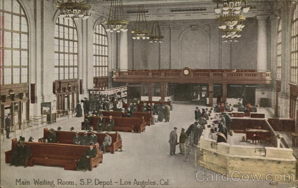 S. P. Depot - Main Waiting Room Los Angeles California