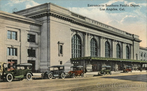 Entrance to Southern Pacific Depot Los Angeles California