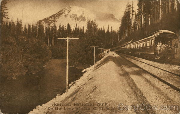 Rainier National Park, On the Line of the C.M & St P.R. Washington