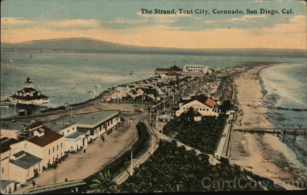 The Strand, Tent City, Coronado San Diego California
