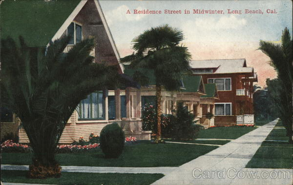 Residence Street in Midwinter Long Beach California