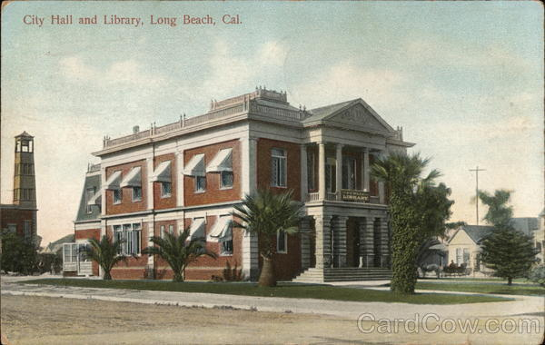 City Hall and Library Long Beach California