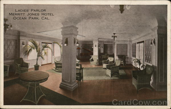 Ladies' Parlor, Merritt Jones Hotel Ocean Park California