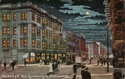 Seventh and K Streets, by Moonlight
