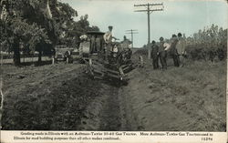 Grading Roads in Illinois with an Aultman-Taylor 30-60 Gas Tractor