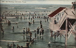 Surf Bathing Postcard