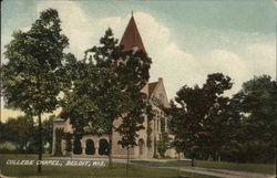 College Chapel Postcard