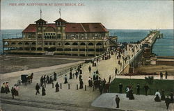 Pier and auditorium at Long Beach, Cal.