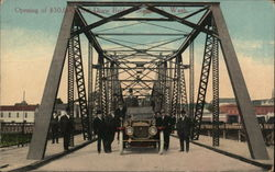 Opening of $50,000 Steel Draw Bridge