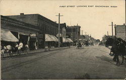 First Street, Looking East Postcard