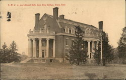 Y. M. C. A. and Alumni Hall, Iowa State College Postcard
