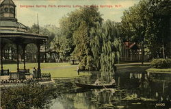 Congress Spring Park showing Lake