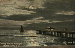Fishing Pier, by Moonlight