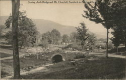 Stanley Arch Bridge and Mt. Churchill, Stamford-in-the-Catskills