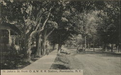 St. John's Street from O. & W. R. R. Station