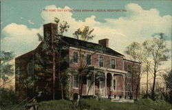 The Home That Entertained Abraham Lincoln Postcard