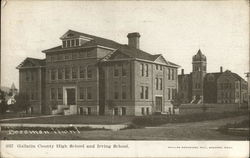 Gallatin County High School and Irving School Postcard