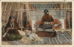 Navajo Blanket Weavers, Indian Building