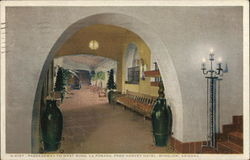 Passageway to West Wing, La Posada, Fred Harvey Hotel Postcard