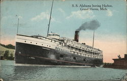 S. S. Alabama Leaving Harbor