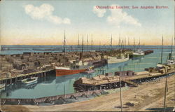 Unloading Lumber, Los Angeles Harbor