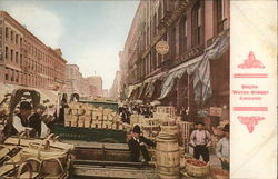 View of South Water Street, Vendors with Baskets