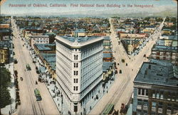 Panorama of Oakland - First National Bank Building in foreground