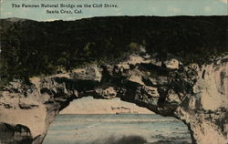 The Famous Natural Bridge on the Cliff Drive