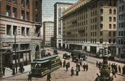 "Market Street from Geary Street, ""On the Road of a Thousand Wonders"""