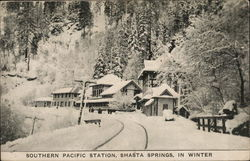 Southern Pacific Station in Winter