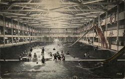 Bath House Interior Redondo Beach, CA Postcard