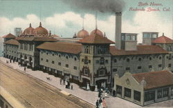 Bath House Redondo Beach, CA Postcard