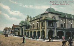 Auditorium and Bath House Redondo Beach, CA Postcard
