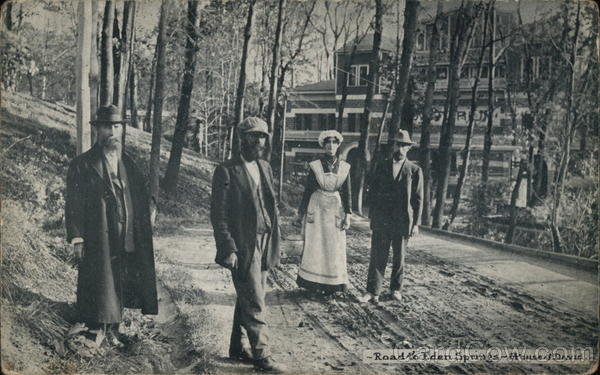 Road to Eden Springs, Four People Standing Near Trees Benton Harbor Michigan