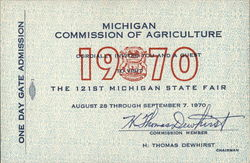 Michigan Commission of Agriculture, 1970 - The 121st Michigan State Fair