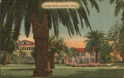 Sunset Motel, MIdst the Orange Groves of the Lower Rio Grande Valley Postcard