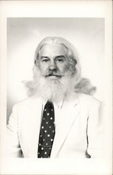 Man with White Long Hair and Beard