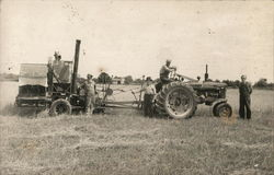 Men Haying with Farmall Tractor and Baler