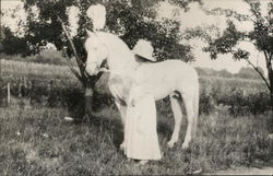 Mary Purnell With a White Horse