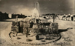 Court Fountain, Grande Vista - America's Finest Tourist Court Postcard