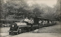 Miniature Train Filled with Passengers - House of David Park