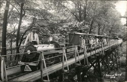 People on a Miniature Train