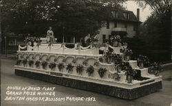 Woman Atop House of David Float, Grand Prize Winner - Benton Harbor Blossom Parade - 1952