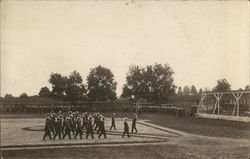 A Marching Band on Baseball Field Postcard